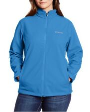 COLUMBIA Kruser Ridge Softshell Full Zip Jacket Womens Plus Size 1X  Stormy Blue