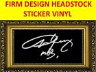 STICKER FIRM WHITE ANGUS YOUNG AC/DC DESIGN VISIT MY STORE FOR GUITAR & BASS