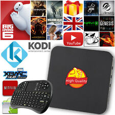 Free Keyboard Quad Core 2016 Smart TV Box Fully Loaded KODI XBMC Android 4.4 UK