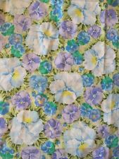 Vintage Floral Pillowcase Standard Craft Fabric Excellent Condition