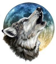 Full Color Wolf Moon Scene Decal Sticker rv travel trailer camper Motorcoach
