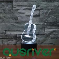 New Guitar Pattern LED 3D Illusion Lamp Birthday Gift Decoration Penzance 3272