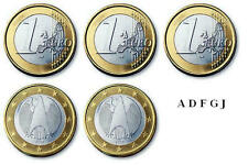 5 x 1 Euro Kursmünzen BRD Deutschland 2012 ( ADFGJ ) stempelglanz