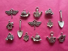 Tibetan Silver Mixed Gardening/Spring Time Charms 14 per pack