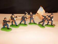 Vintage Britains Detail 6 American Civil Federal Infantry Figures x-shop stock