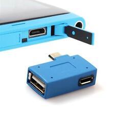 Mikro USB 2.0 OTG Gastgeber Adapter mit USB Power für Zelle Telefon Tablette