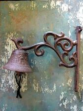 Cast Iron Metal Decorative Dinner Door Bell Home Garden Porch Patio Farm Yard