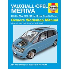 Opel Meriva 1.4 1.6 1.8 Pet 1.3 1,7 Dsl 03-10 (03 al 10 Reg) Haynes Manual