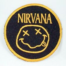 NIRVANA Rock Music Band Embroidered Iron On Sew On Applique Patch 3 Inches