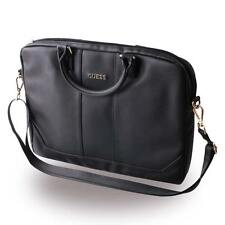 "Authentique guess saffiano ordinateur sac 15"" - noir"