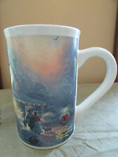 Thomas Kinkade Heart of Christmas Mug Cup 2010 Snowman Holiday Home Family Snow