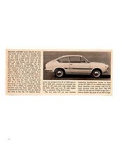 1967 FIAT 850 OT 1300/124 - CARLO ABARTH ~ ORIGINAL SMALLER ARTICLE / AD