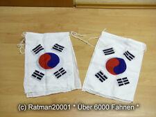 Fahnen Flagge Flaggenkette Südkorea 6 Meter Lang