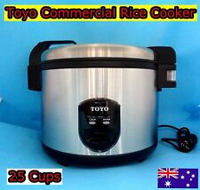 TOYO Stainless Steel Commercial Rice Cooker 25 cups/4.5 L (Non Stick inner pot)