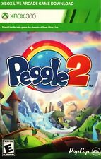 Peggle 2 Xbox Live Arcade Full Video Game Download Card (Xbox 360, 2014)