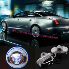 2x Led Jaguar Logo Door Courtesy Welcome Shadow Projector Lights For Xj 04-2015.