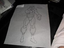 ORIGINAL 1994 ART SKETCH XMEN SABERTOOTH  ACTION FIGURE TOY BURGER KING