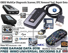 WOW snooper+BT OBD2 diagnostic scanner DS150E EQUIVALENT vci 3 free software2016