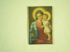 Vintage Small Religiuos Picture Baby Jesus With Madonna Mary Holy Mother Lilium