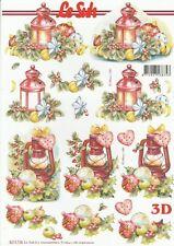 Feuille 3D à découper A4 - 8215.738 Lanterne Noël - Decoupage Sheet Christmas