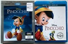 NEW DISNEY PINOCCHIO BLU RAY DVD DIGITAL BEST BUY EXCLUSIVE LENTICULAR SLIPCOVER
