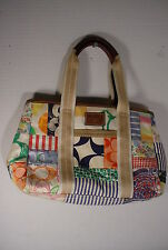 COACH Multi Color Canvas Patchwork Hamptons Satchel Bag 10454