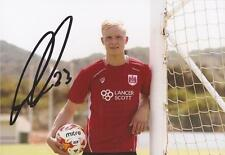 BRISTOL CITY: HORDUR MAGNUSSON SIGNED 6x4 PORTRAIT PHOTO+COA