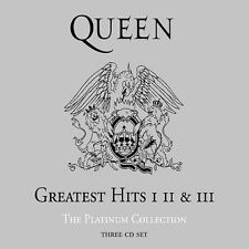 Greatest Hits I, II & III - The Platinum Collection (3CD) Queen Music-Good Condi