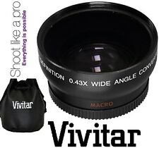 Vivitar HD4 Optics 0.43x Pro HD Wide Angle With Macro Lens For Canon Rebel T3