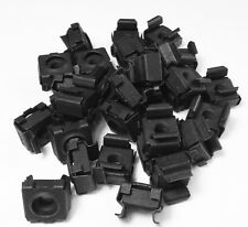 RackGold M5 Black Cage Nuts - 25 Pack RoHS Compliant & USA Made GM5-SNP-B25