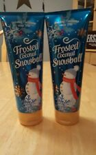 Bath & Body Works FROSTED COCONUT SNOWBALL Body Cream 8 OZ LOT of 2 Brand NEW