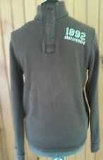 abercrombie mens 1892 xl brown pullover
