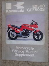 1987 Kawasaki EX500 GPZ500S Motorcycle Service Manual Supplement MORE IN STORE R