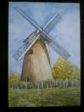 POSTCARD ISLE OF WIGHT BEMBRIDGE WINDMILL WATERCOLOUR