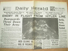 DAILY HERALD WWII NEWSPAPER MAY 25 1944 ENEMY IN FLIGHT FROM HITLER LINE