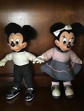 Applause Mickey & Minnie Mouse 50's Sock Hop Plush