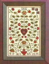 """Carriage House Samplings """"Scarlet Berries"""" Pattern"""