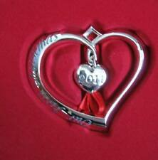 LENOX Forevermore Silverplated 2011 Our First Christmas Heart Ornament NIB