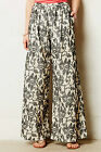 San & Soni Cotton Terre Wide-Legs Pants Various Sz Black NW ANTHROPOLOGIE Tag