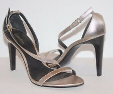 Calvin Klein Womens Narella Shiny Gold Heels Strappy Sandals Shoes Smooth Soles