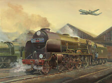 Lord Nelson Southern Railway Steam Train Vickers Viscount BEA Art Painting Print
