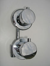 NEW 1 WAY THERMOSTATIC SHOWER MIXER TAPS VALVE, ALL METAL/CHROME, 1/2 TURN, 045N