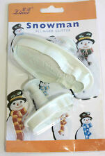 Set of 2 Snowman Plunger Cutters Sugarcraft, Cake Decorating Christmas