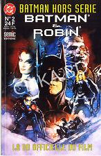 BATMAN HORS SERIE 2-1997-SEMIC-BD FILM BATMAN & ROBIN- 64 pgs- TBE+/C.N-non lu -