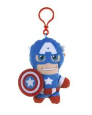 "BRAND NEW 5"" MARVEL BAG CLIP PLUSH SOFT TOY CAPTAIN AMERICA CHARACTER SUPERHERO"