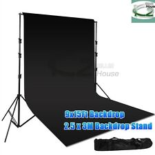 Photography 9x15Ft Muslin Backdrop Video Heavy Duty Background Stand Suppor