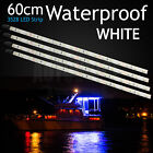 4x Waterproof Boat Strip LED 12V 60cm Light Caravan Garden Camping Cool White