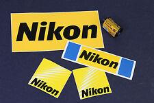4 adesivi NIKON sticker anni 70 - 90 - 2000 ORIGINALI NUOVI