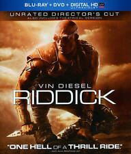 Riddick (Unrated Director's Cut Blu-ray + DVD + Digital HD UltraViolet) NEW!