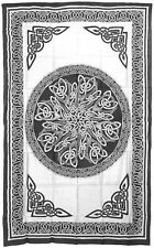 """Celtic Knot Mandala Cotton Bedspread Tapestry Wall Hanging 72"""" x 108""""  6 Colors"""